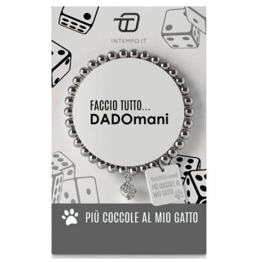 """Braccialetto Dadomani in metallo """"Più"""